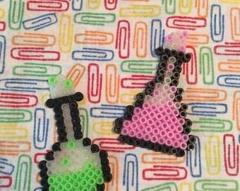 Fused beads Laboratory beakers magnets