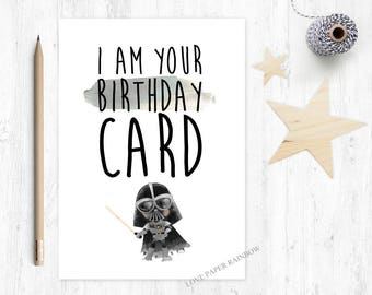 star wars birthday card, this is your birthday card, FUNNY birthday card, happy birthday, darth vader birthday card