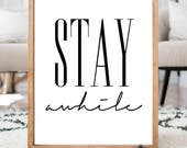 Stay awhile- READ ITEM DETAILS