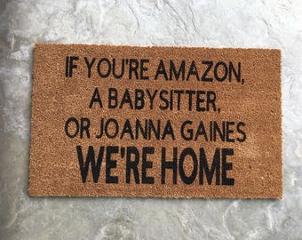 Customized Welcome Mat | Personalized Door Mat | Custom Welcome Mat | Closing Gift | Custom Doormat | Reminder Rug | The Last Name Doormat