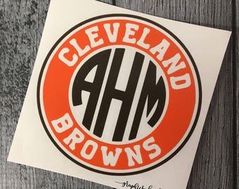 OHIO State Monogrammed Decal Ohio Buckeyes Decal Ohio - Custom vinyl decals cleveland ohio