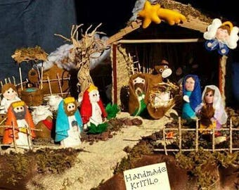 Nativity scene in Felt and felt Handmade KriTiLo Nativity Christmas Time