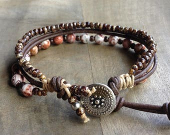 Bohemian bracelet boho chic bracelet gypsy womens jewelry boho bracelet gemstone bracelet boho chic jewelry rustic bracelet boho jewelry