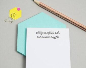 ON SALE Sticky Notes - Positive Thoughts - Positive Sticky Notes - Self Care - Stationery - Gift - Positivity - Kindness - Love - Po