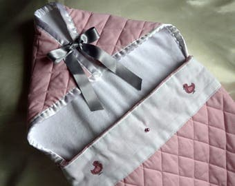 Pink fabric Bunting for baby