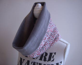 Snood hand-made in soft, cotton Velvet