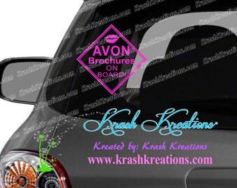 Avon Brochure on board, with lips, GLITTER colors options