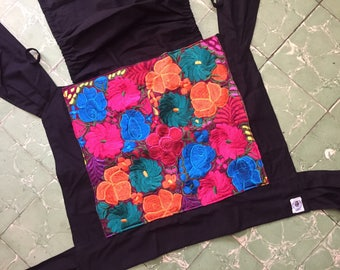 Mexican artisan embroidered mei tai from Chiapas