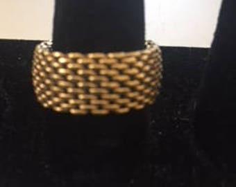Tiffany & CO 18k Yellow Gold Flex Mesh Somerset Wide Band
