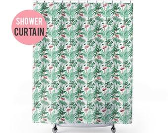 Shower Curtain Flamingo Pattern Shower Curtain