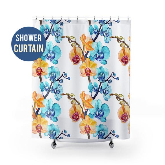 Shower Curtain Beautiful Orchid Pattern Shower Curtain