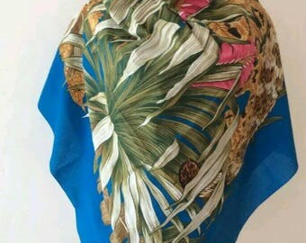 Salvatore Ferragamo scarf cotton sarong shawl