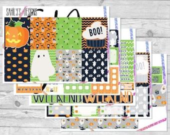 BOO  Week Set // Erin Condren // The Happy Planner // Sticker Kit // Halloween// Fall  Stickers // Sticker Week Set // Halloween Sticker set