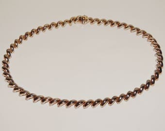 """San Marco Italy Made Sterling Silver 16"""" Necklace."""