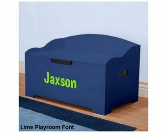 Personalized Dibsies Modern Expressions Signature Series Toy Box, Blue - Boys