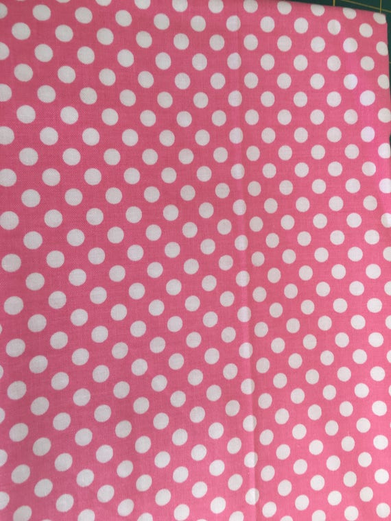Riley Blake Basics Small Dot C350 Hot Pink 1/4 - 1/2 yard