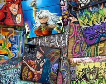 30%OFF Graffiti Digital Papers , Graffiti Art , Street Art , Graffiti Digital Backdrop , Graffiti Walls , Graffiti Brick Walls Buy 2 Get 1 F