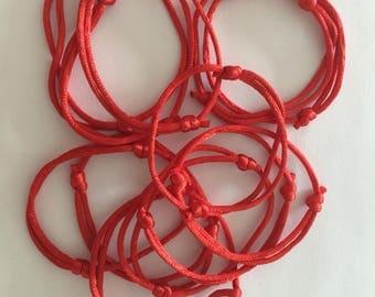 KABBALAH hand made adjustable red string Bracelet (12pcs)