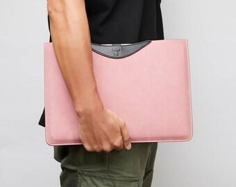 """Pink Macbook 13 Sleeve, Macbook Pro 13 Case, Macbook Pro 13 Sleeve, 13"""" Pink Laptop Sleeve Leather Macbook Sleeve 12 inch iPad Pro 12.9 Case"""