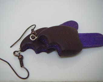 Earrings purple magnum