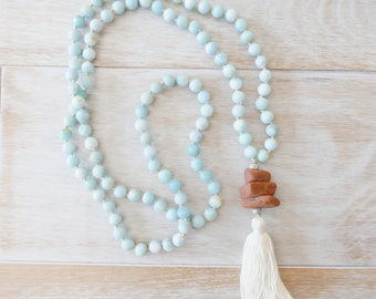 Find Your Way Mala - Amazonite Mala Beads inspired in Sedona AZ - 108 Mala / Mala Necklace