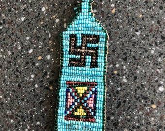 Vintage Native American Indian Beaded Bead Work