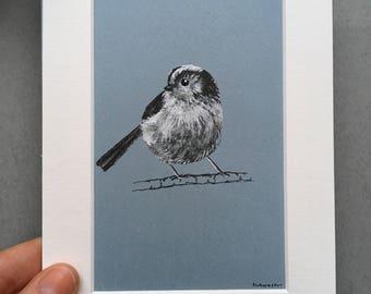 Long-tailed Tit, Ink Portrait