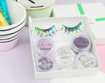 Purple Cosmetic Glitter Face Pack