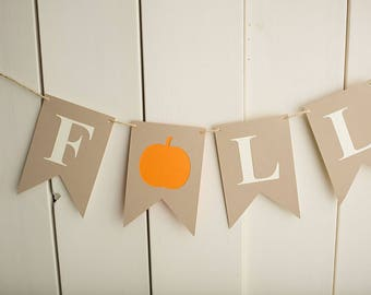 Fall banner, Fall decor, Autumn bunting, pumpkin banner