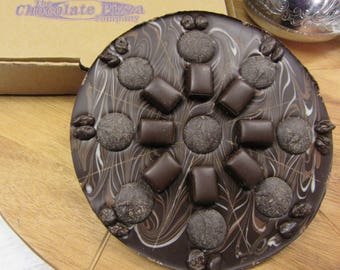 Marblelously Dark Chocolate Pizza