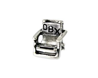 Outer Banks/OBX Beach Chair Large Hole Silver Bead - Compatible with ALL  Popular Bracelet Brands - Made in the USA! - Item #13880