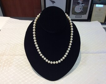 "Pearl Necklace 18"" length 7mm size"
