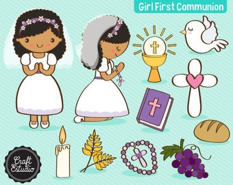 First Communion, first comunion, Girl, Catholic, Instant Download, Digital Paper, Clipart, High resolution, JPG scrapbooking, PNG Clipart