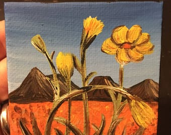 Flowers in the Mountains Full Size Painting | Multiple Canvas Sizes Available