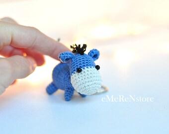 Handmade Crochet Donkey, Donkey Plush Toy, Crochet Donkey keychain, Crochet Donkey Keychain (Keyring, Keyholder), Bag Accessory, Doll