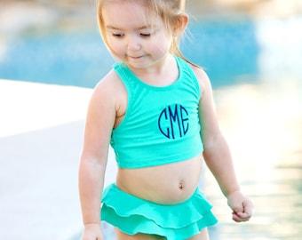 Kids Swimwear, Monogrammed Swimwear, Girls Swimwear, Personalized Swimwear for Kids, Girls Bathing Suits, Girls Swim sets
