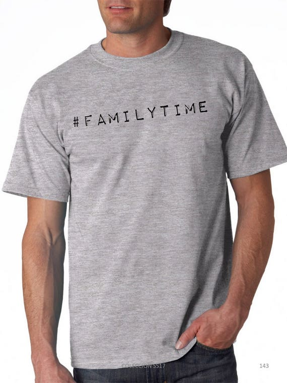 Round neck men short sleeve t-shirt #familytime
