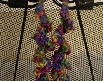 Sunset Flower Spiral Dangle