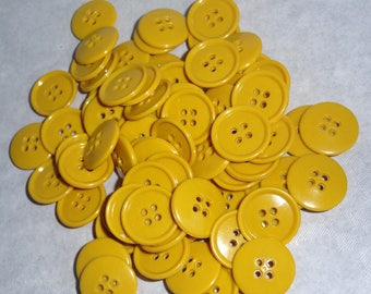 Buttons yellow batches of 50 buttons