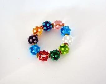 Murano beads bracelet.