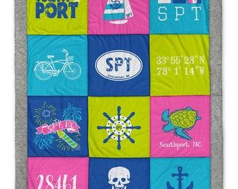 Southport NC Destination Blanket