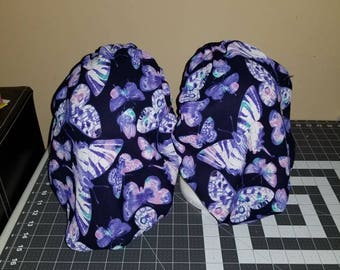 Mommy and me Purple Butterfly bonnet