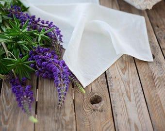 Ivory wedding table runner, Rough linen centerpiece, Long table runner, Off white burlap table runner, Rustic home decor, Farmhouse runner