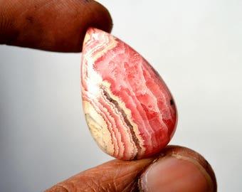 Natural Rhodochrosite 36 Cts Gemstone Loose Cabochon Pink Rhodochrosite Pear Shape 30x18x6 MM R13435