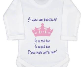 Funny baby Bodysuit, I am a Princess.