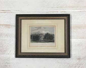 Antique Pastoral English Framed Print