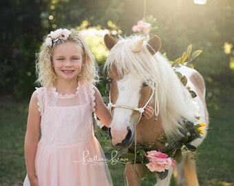 Tieback Flower Crown, Baby Headband, Flower Headband, Baby Flower Crown, Bridal Flower Crown, Flower Girl Crown, Flower Crown, Toddler Crown