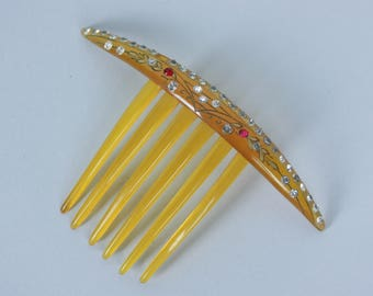 "Vintage 1920s Hair Comb | 20s 30s ""Best Hold"" Art Deco Head Piece"
