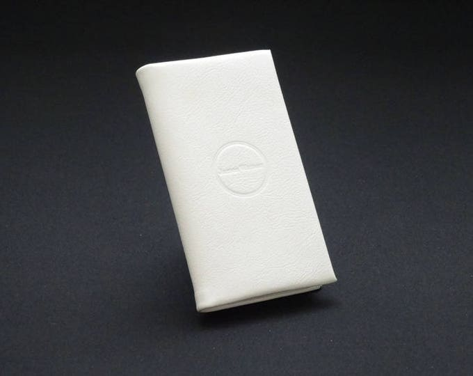 Apple Smartfold4 Phone Wallet - White Gloss - Fits Apple iPhone 5 5S 5SE - Made in Australia with Australian leather.