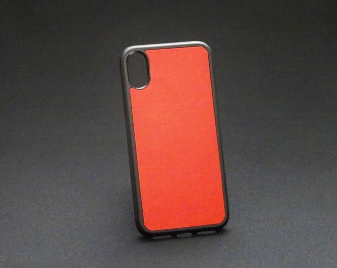 Apple iPhone X 10 - Jimmy Case in Candy Red - Kangaroo leather - Handmade - James Watson